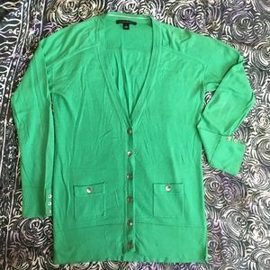 Banana Republic Green Long Sleeved Cardigan - S